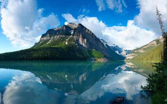 широкоформатные, природа, озеро
