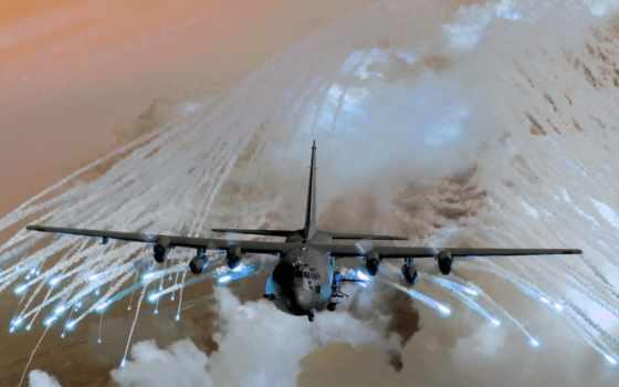 самолёт, oblaka, полет