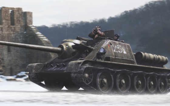 sou, сау, пт, танк, wot,СУ-100,