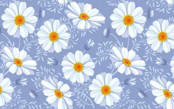 цветы, часть, flowers, весенние, весна, фоны, daisy, вектор, акварелью, акварельные,