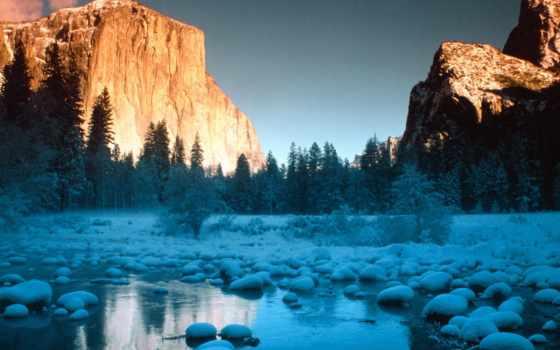park, yosemite, national, reki, парки, национальные, янв, горах,