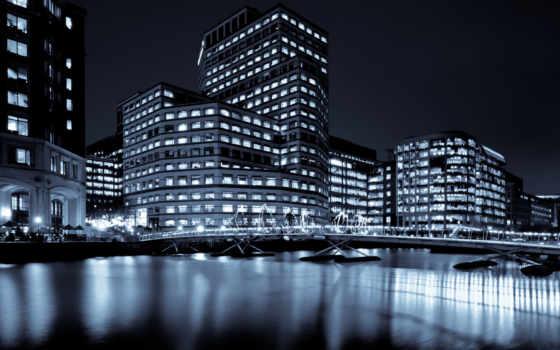 london, великобритания, город, ночь, река, англия, мост, здания, ук,