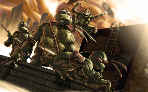 teenage, turtles, ninja, mutant, tmnt, art,