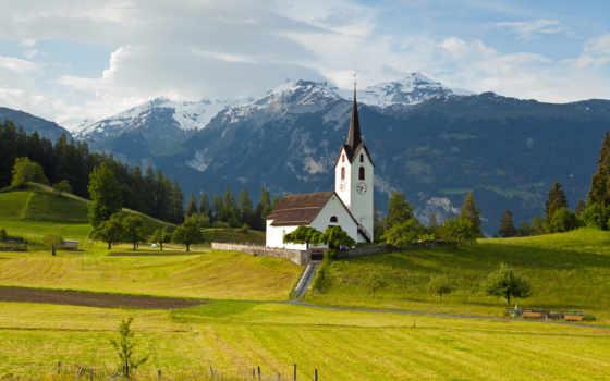 suiza, alpes, naturaleza, paisajes, fondos, montañas, pantalla, gratis, iglesia, descargar, paisaje,