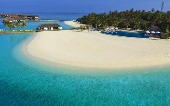 море, maldives, остров, рай, water, голубая, широкоформатные, android,