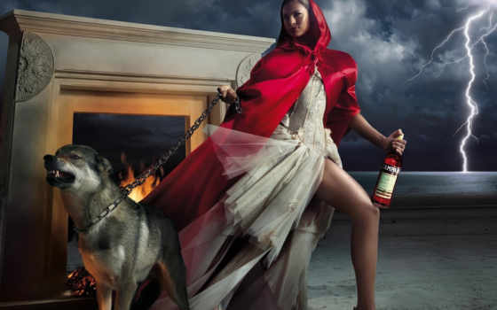 красная, шапка, сказки, волк, campari,