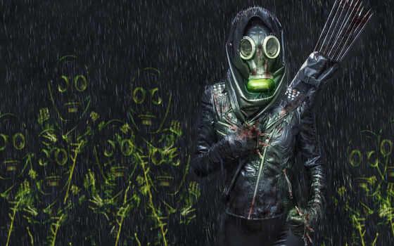 toxic, газовый, маска, девушка, первую, resolution