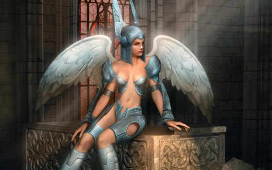 фэнтези, ангелы, девушки