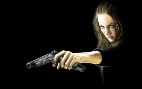 devushki, оружие, пистолеты