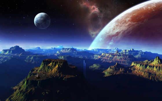 cosmos, горы, планеты