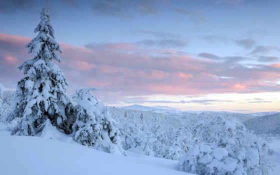 пейзажи -, закат, winter, landscape, ecran, parede, янв, fond, tapety, zima,