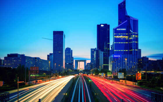 город, париж, french, здания, landscape, выдержка,,