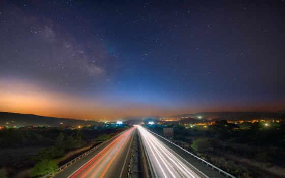 путь, млечный, ночь, photography, северное, сияние, звездное, ipad, desktop,