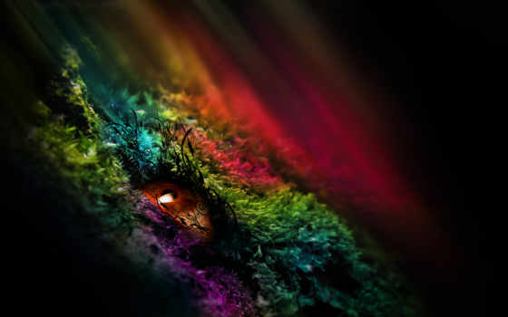 pattern, глаз, радуга, цвета,