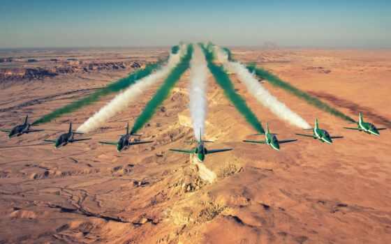 картинка, hawk, команда, aerobatic, siddeley, hawker, дым, пустыня, air, rock