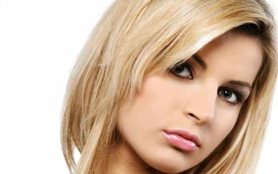 blonde, волос, зеленоглазая