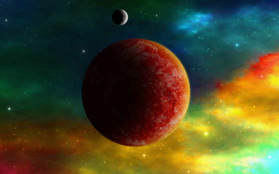 планеты, космос, туманность