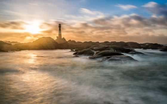 lighthouse, tapety, скалы, pulpit, море, страница,