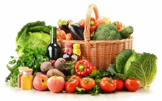 производить, фрукты, корзина, яблоки, баклажаны, еда, натюрморт, корзинах, капуста,