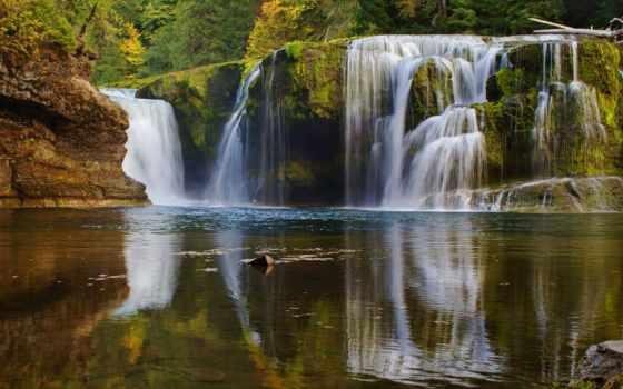 водопад, красивый, фото, абонент, телефон, purple, лес
