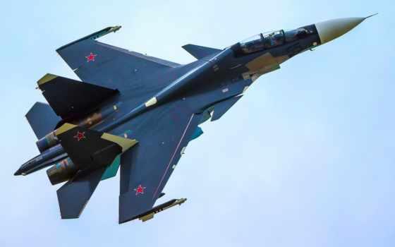 су, истребитель, военный, самолёт, russian, реактивный