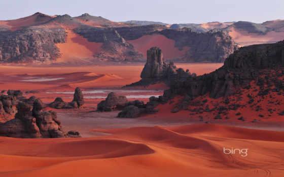 тассилин, скалы, сахара, флот, national, адджер, тассили, алжир, песок, горы, африка,