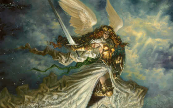 angel, baneslayer, магия, staples, gathering, greg, art, mtg,