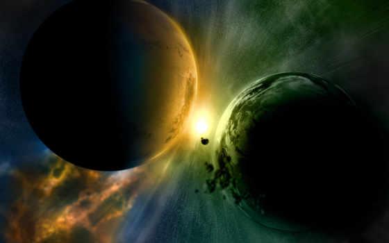 cosmos, planet, столкновение