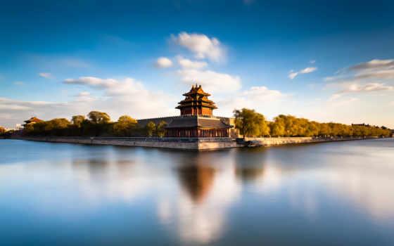 china, небо, горы