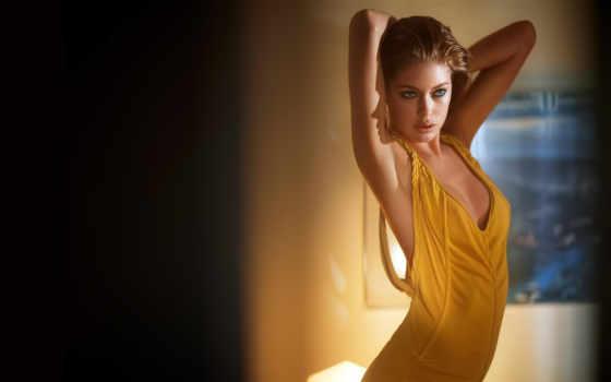 девушка, devushki, модель, желтом, красивая, красивые, grace, красавица,