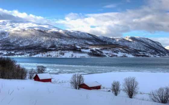 fondos, pantalla, invierno, naturaleza, paisajes, норвегия, noruega, escritorio,