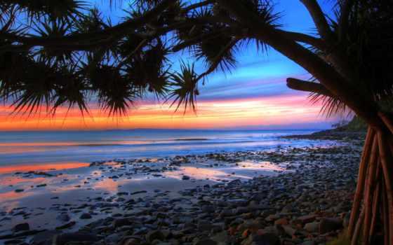 закат, ocean, камни, берег, surf, небо, вечер, побережье, oblaka, скалы, море,