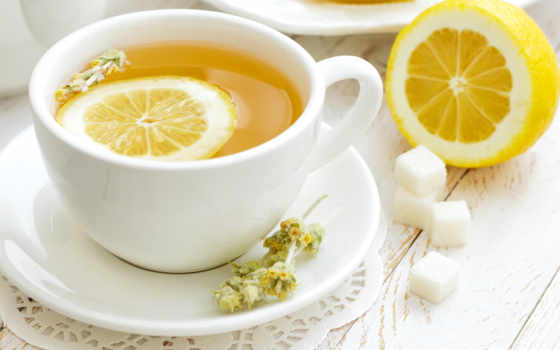 lemon, чая, блюдце, cup, сахар, кружка,