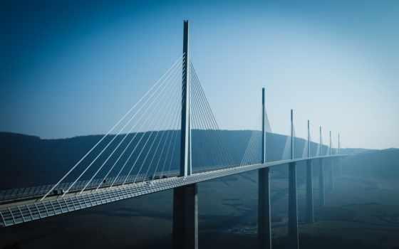 виадук, мийо, мост, millau, франция, viaduc, architecture,