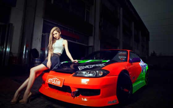 nissan, silvia, модель, car, korean, девушка, asian, плакат, hot,