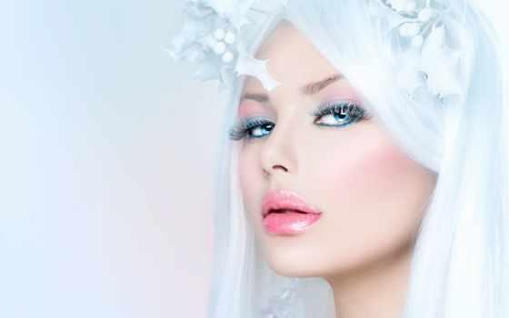 winter, макияж, женщина, девушка, красавица, сделать, fashion, модель,