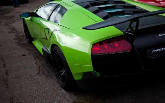 lamborghini, зелёный, спорт, машины, автомобили, авто, murcielago,