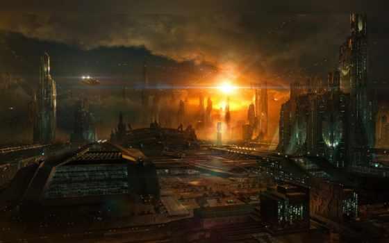 будущего, город, города, vu, маунтин,