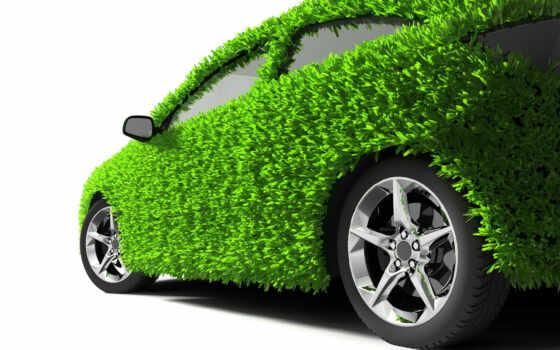 зелёная, машина, колеса, трава, зелень, экология,