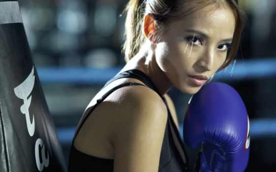 спорт, бокс, девушка
