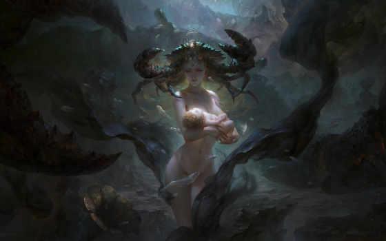 guangjian, huang, art, русалки, mermaids, hgjart,