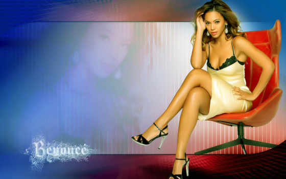beyonce, knowles, кресло, sitting, red, desktop,