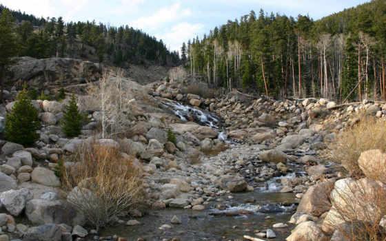 река, лес, пасть, страница, осень, природа, winter, trees, гора,