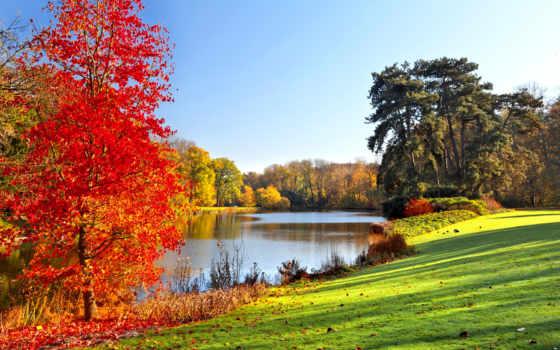 осень, trees, природа, ríos, года, time, pantalla, naturaleza, fondos, del, paisajes,
