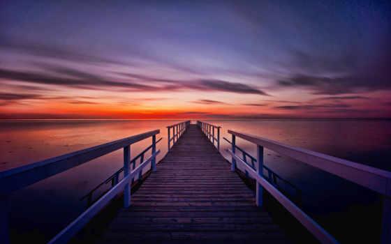 закат, desktop, часть, превосходные, море, masaüstü,