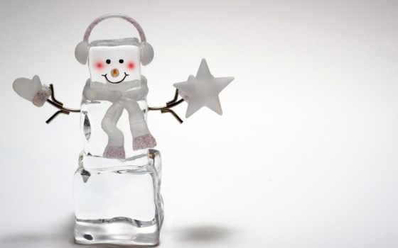 год, new, праздник, снеговики, снеговик, праздники, christmas, украшения, широкоформатные, лед, красивые,