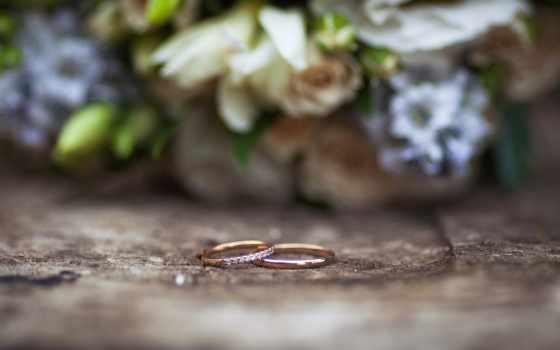 кольца, макро, свадебный, букет, розы,