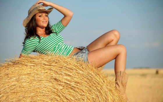 ,, солома, grass family, белокурый, девушка, длинные волосы, сено, поле,  hello nurse,, любовь,, плейбой,