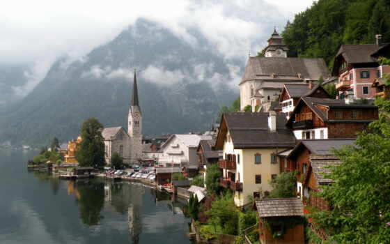 hallstatt, austria, cities, гальштат,