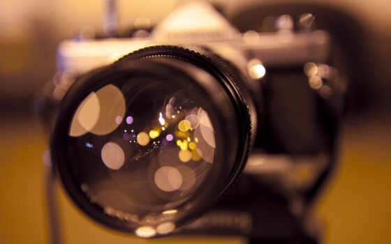 фотоаппарат, объектив, отражение